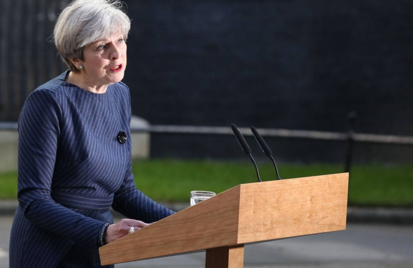 Theresa May announces the General Election